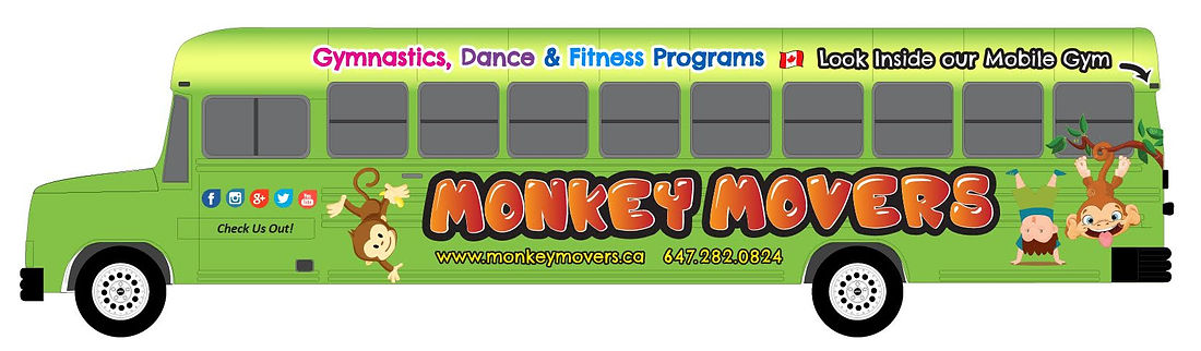 Monkey Movers Gym Bus For Kids Gymnastics & Fitness