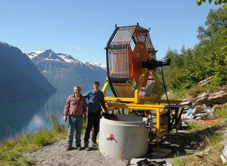 Hydraulisk trommel for seismikk-kabel