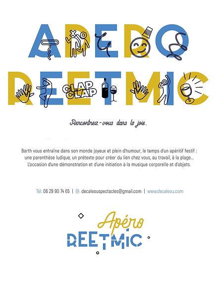 Compagnie Decaleou , Apéro Reetmic , Spectacle , Musique Corporelle