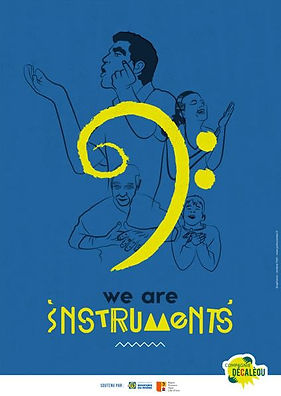 Compagnie Decaleou , We are Instruments , Spectacle , Musique Corporelle