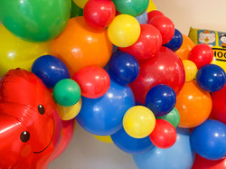 Back to School Organic Balloon Garland