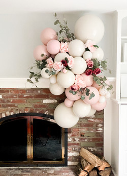 Floral Pink and Cream Cluster