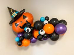 Halloween Pumpkin Organic Balloon Garland
