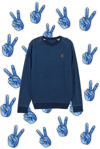 HOMEWEAR SWEATER DENIM WASHED