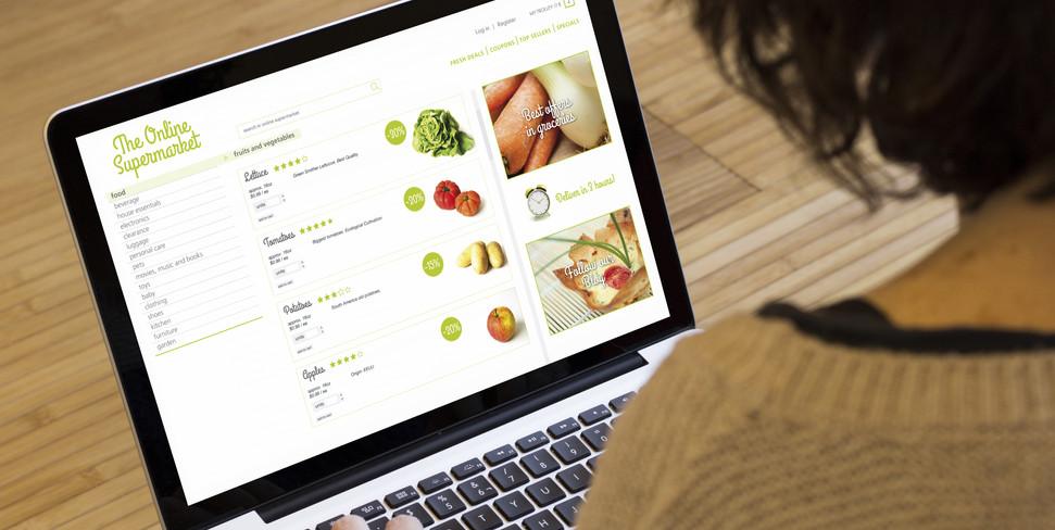 online shopping concept: online supermarket