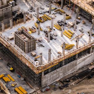 Aerial Photo Busy Industrial Constructio