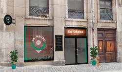 Création du logo et de la façade pour le restaurant La Gache - Lyon.