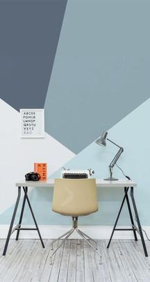 Rolige farger og minimalistiske former