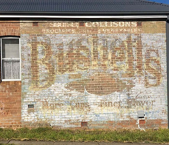 Touring the Past - Ghost sign in Ryde Heriage Interpretation