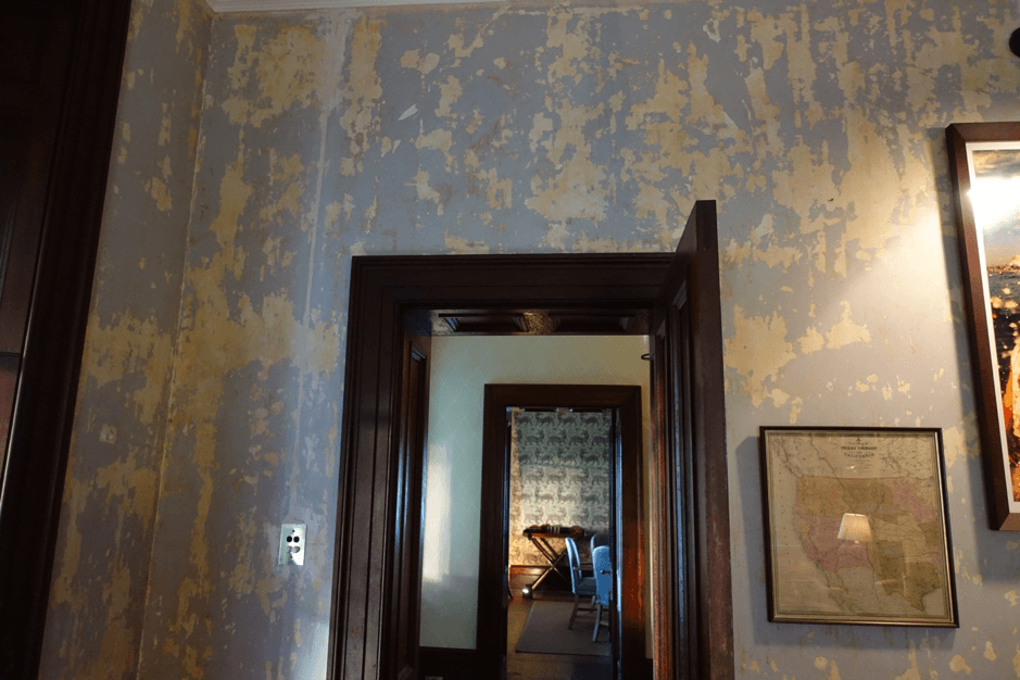 Touring the Past - Terragong House, wall paper, blog