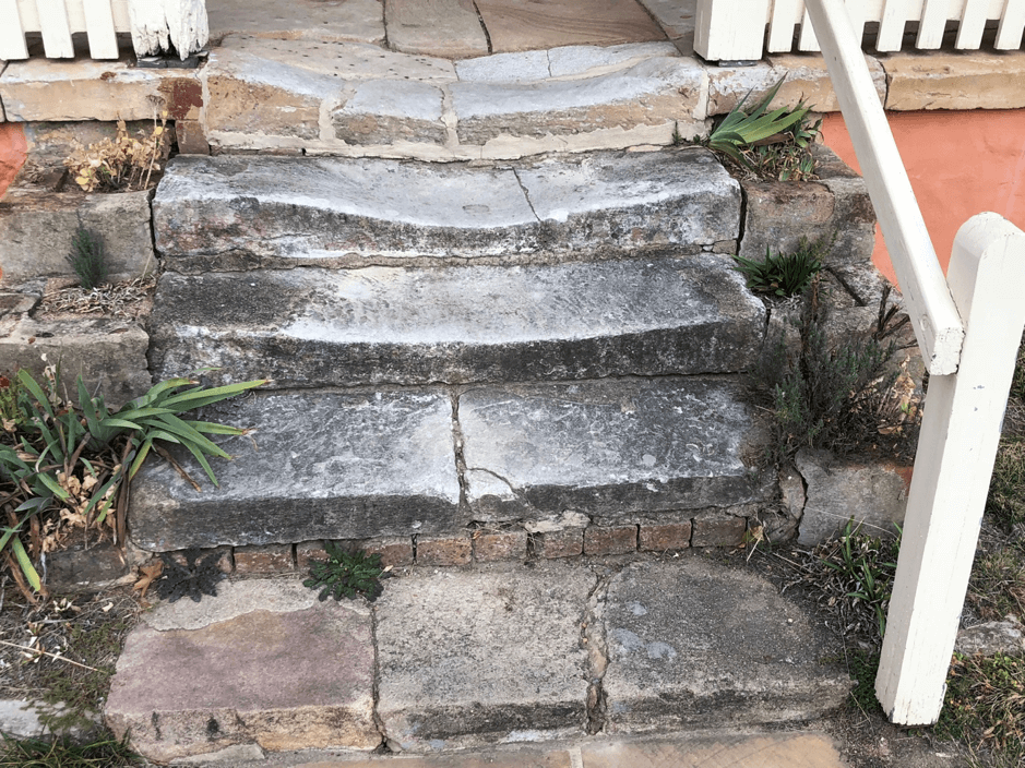 Touring the Past - Patina, aged steps, blog