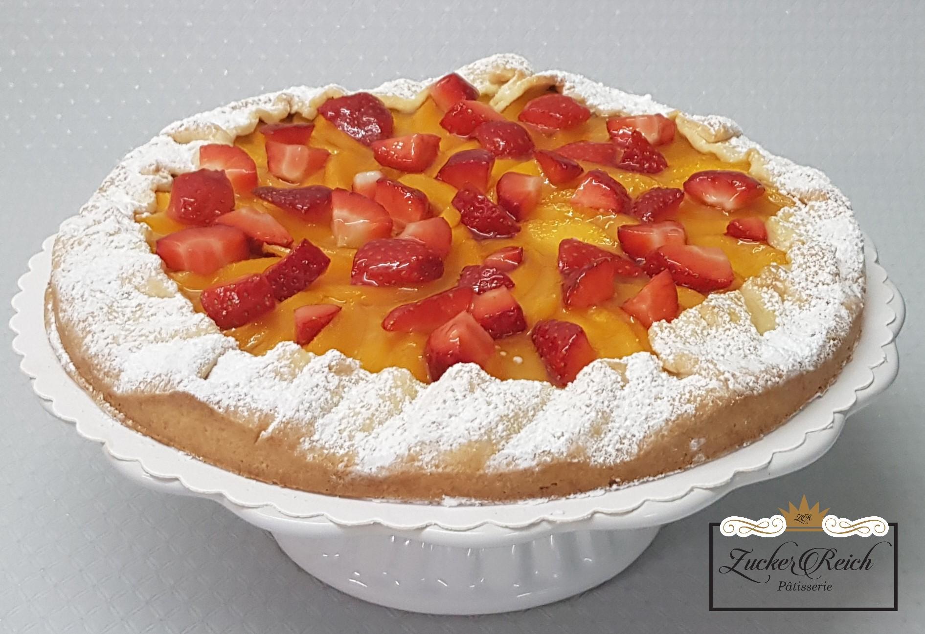 Obsttarte Erdbeer-Pfirsich