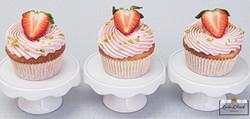 Erdbeer-Rhabarber Cup Cakes
