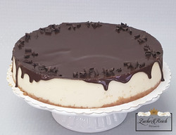 NY Cheesecake mit Schokoglasur