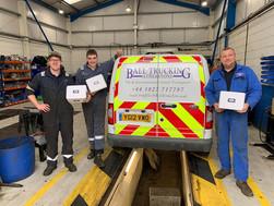 Ball Truckin win Trucking Legend award