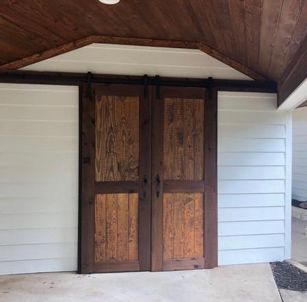 Custom built barn door