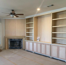 Fireplace and Custom Built In