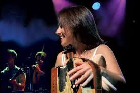The Kilkennys on stage with Sharon Shannon