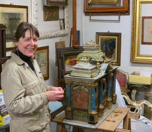 Mariangela-Sacchi bottega di restauro