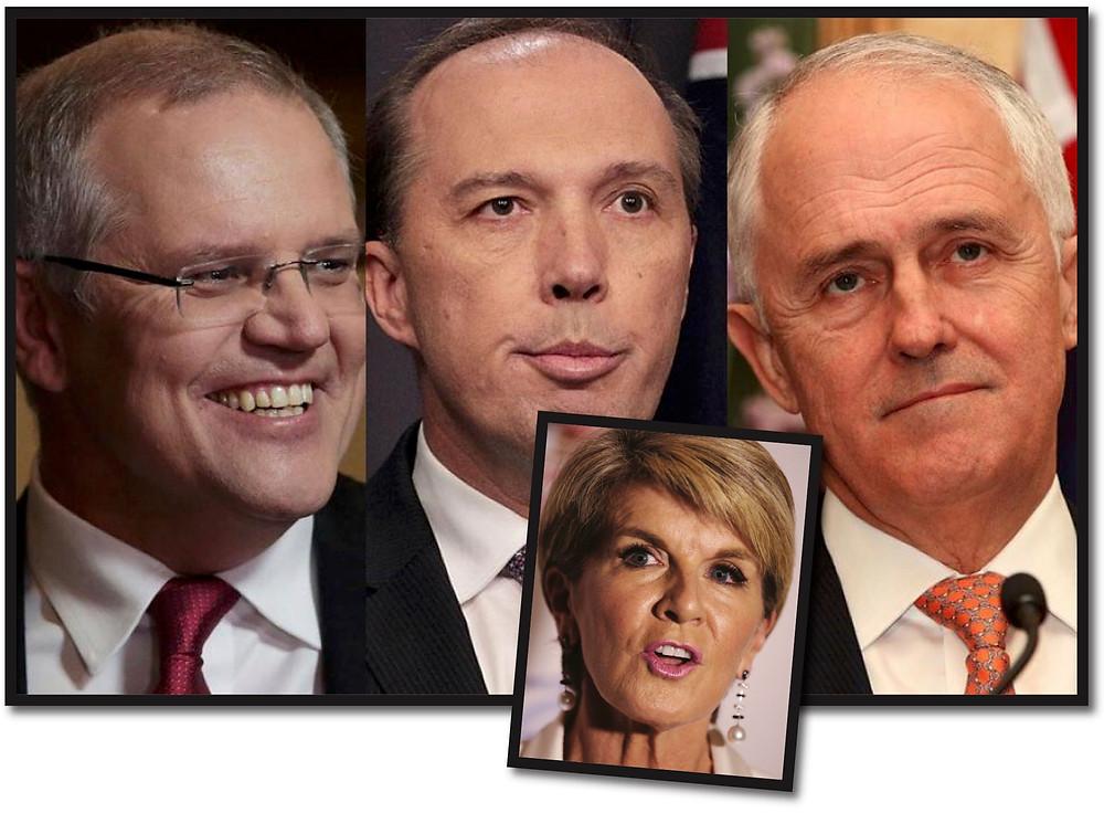 Morrison, Dutton, Turnbull, Bishop inset