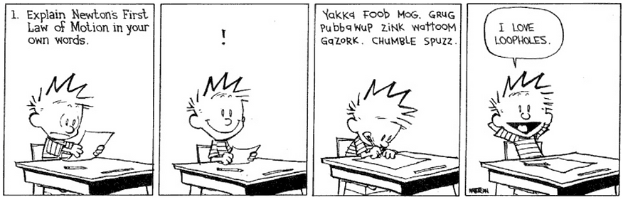 Calvin and Hobbes - Newton Loophole.png
