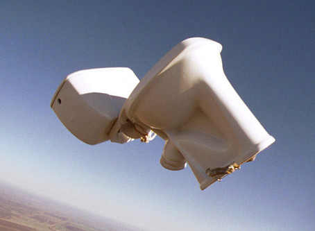 Flying toilets. Yep, it's a thing. Well, until recently.
