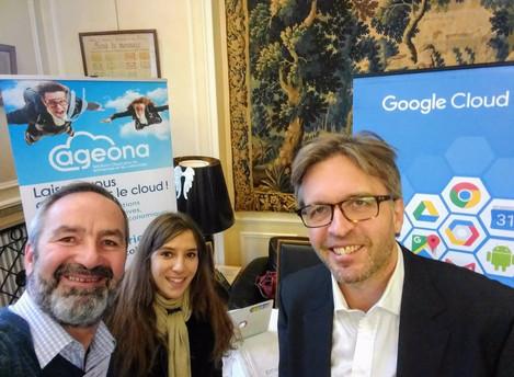 IT Tour Le Monde Informatique 2017 - étape à Orléans, Ageona présent sur le stand Google