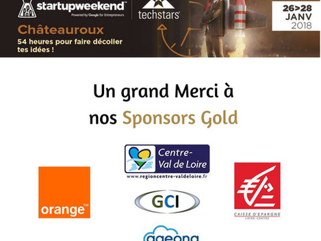Ageona sponsor Gold du Startup Weekend Châteauroux 2018