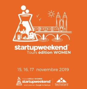 @ageona partenaire du prochain#startupweekendTours édition WOMEN du 15 au 17 Novembre 2019