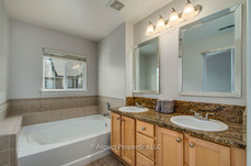 Master bath - vanities and soaking tub