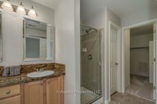 Master bath - shower and walk-in closet