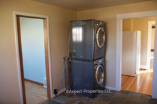 Washer and dryer in laundry/mud room off kitchen