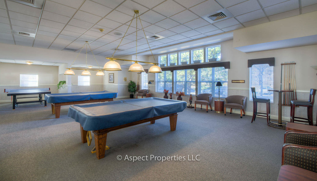 Clubhouse billiards room