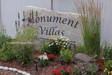 Monument Villas townhome complex sign