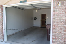 Garage view and entry to kitchen