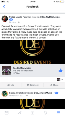 Life @ Desired Events