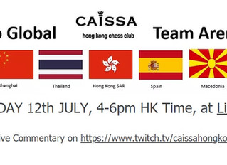 "Caissa ""Go Global Team Arena"" Attracts 100 players! Congrats to Winner Red Knight Chess Club Bangkok"