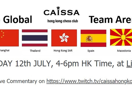 """Caissa """"Go Global Team Arena"""" Attracts 100 players! Congrats to Winner Red Knight Chess Club Bangkok"""