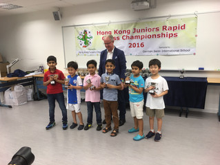 23 Caissa Students Participate and 11 Win Top Prizes in All Age Categories at HKJCC Juniors Rapid Ch