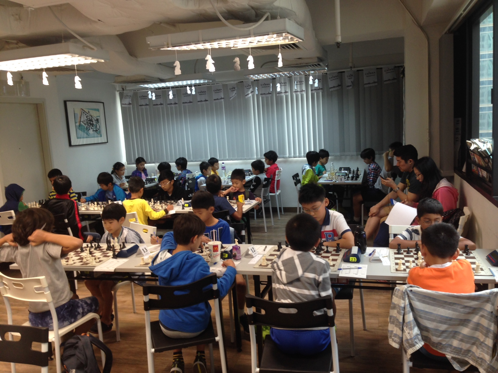 28 players in action YGP Autumn 2015