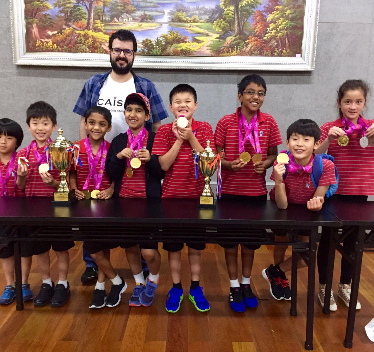 Discovery College HK inter-school chess team
