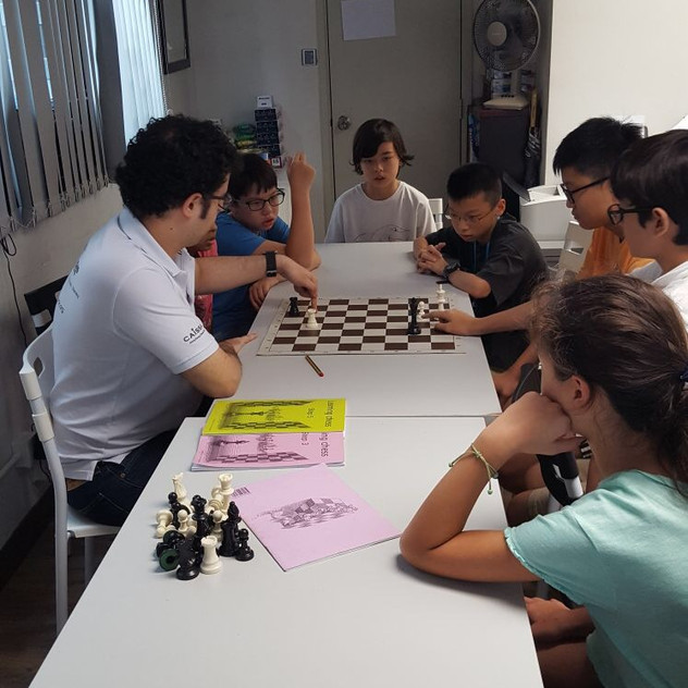 Summer Chess Camp 2017 - group solving