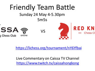 Caissa Defeats Red Knight Chess Club Bangkok in Online Team Battle