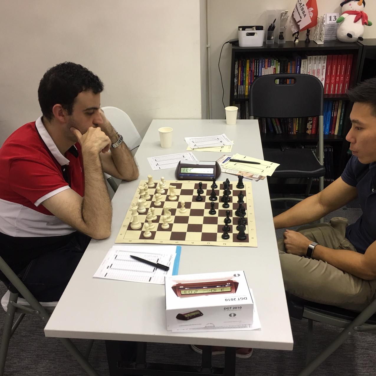 training match IM Marcos Llaneza vs IM M