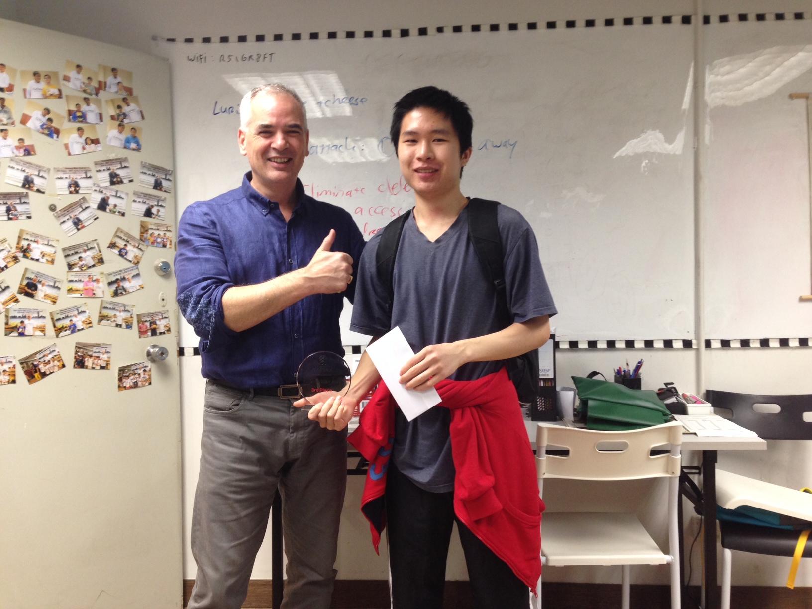 Joseph gets 3rd Prize