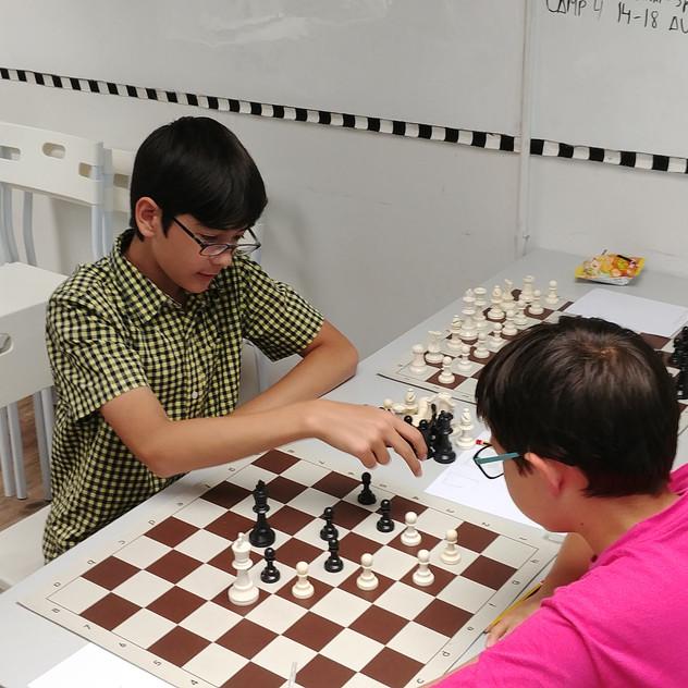 Summer Chess Camp 2017 - Keslon vs Miguel