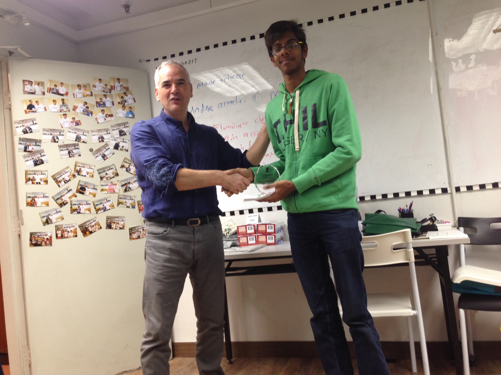 Tushar gets 2nd Prize