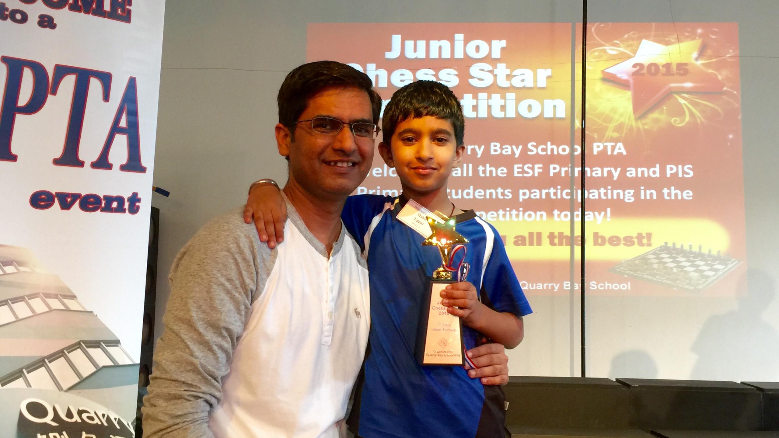 Mahir with proud dad