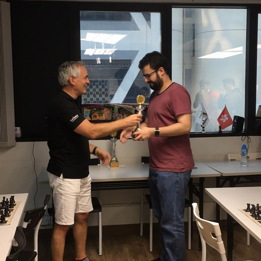 David Rivas 2nd Place Labour Day Rapid Open 2017