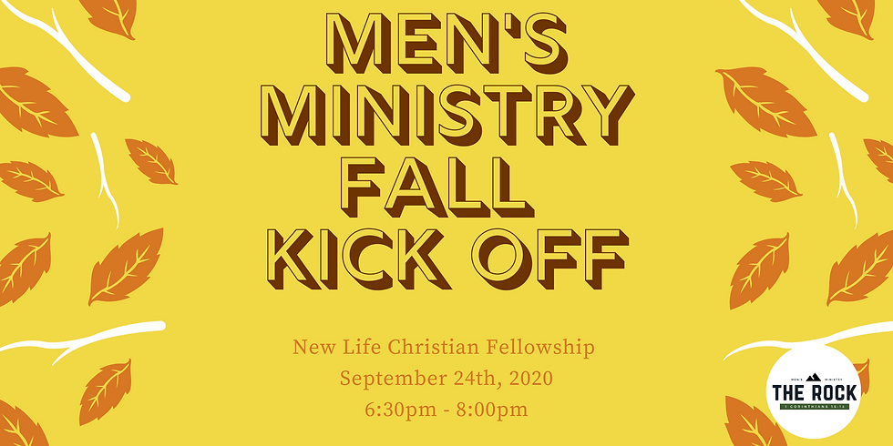 Men's Ministry Fall Kick Off